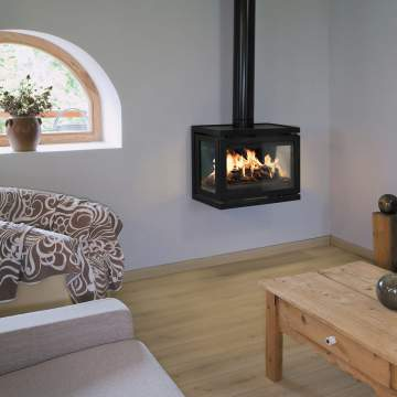 Vente, réalisation sur mesure et pose de cheminée contemporaine en pierre à Cahors